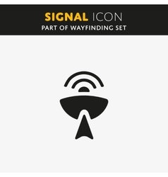 Radio antenna signal icon vector image