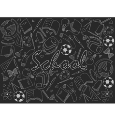 School chalk vector