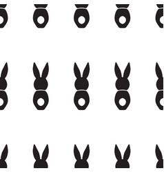 Seamless pattern with bunnies vector