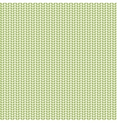 Seamless pattern with green eco leaves vector image