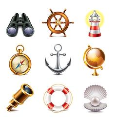 set marine vector image