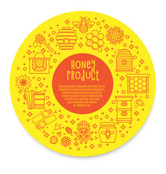 Sunny banner honey product vector