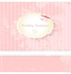 wedding invitation card classic romantic design vector image