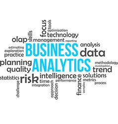 Word cloud business analytics vector
