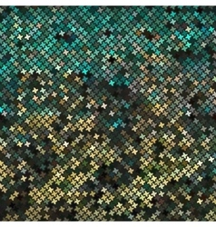 Yellow-green abstract mosaic background vector image vector image