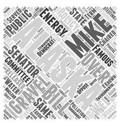 Mike gravel democrat word cloud concept vector
