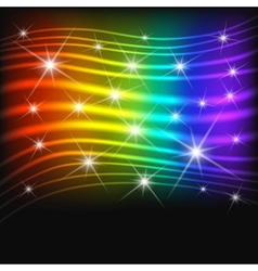 Fantasy abstract rainbow background vector image