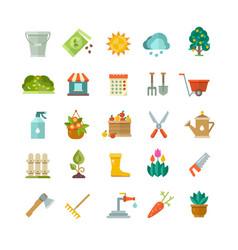 garden tools gardening equipment flat vector image