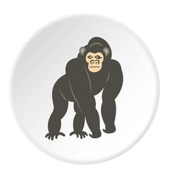 Bonobo monkey icon circle vector