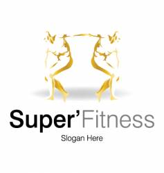 super fitness logo vector image