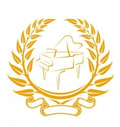 Piano symbol vector