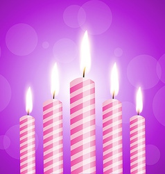Shiny candles vector