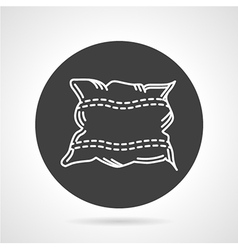 Pillow black round icon vector