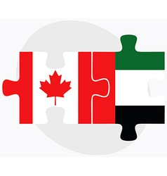 Canada and united arab emirates flags vector