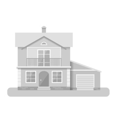 Flat house icon isolated on vector