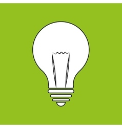 Lightbulb isolated design vector