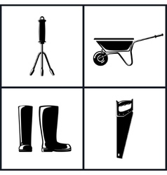 Garden and landscaping tools vector