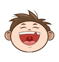 Happy kid boy smiling vector