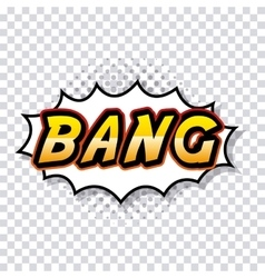 Bang comic pop art style vector