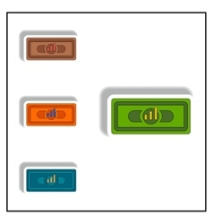 Bar graph on banknote vector