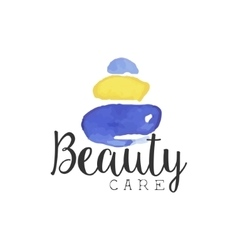 Beuty care promo sign vector