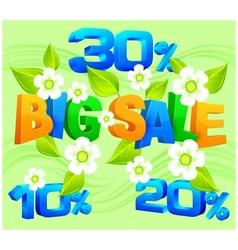 Big sale inscription spring vector