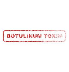 Botulinum toxin rubber stamp vector