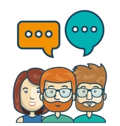 characters chat talk bubble speech graphic vector image