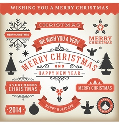 Christmas decoration design elements vector image