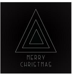christmas futuristic greeting card - minimalistic vector image vector image