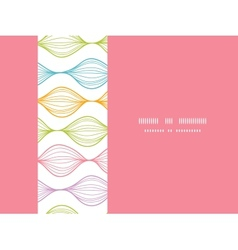 Colorful horizontal ogee seamless pattern vector image