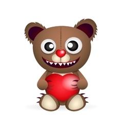 Cute brown teddy bear vector image