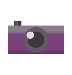 Digital flat photo camera vector image vector image