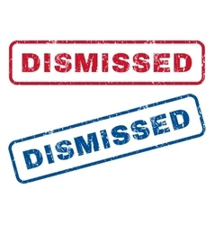 Dismissed rubber stamps vector