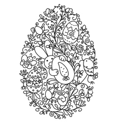 easter egg shape vector image vector image