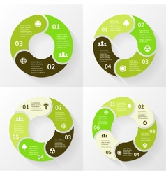 Eco infographic circle arrows 3 4 5 6 steps vector image vector image