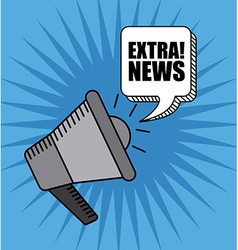 extra news vector image