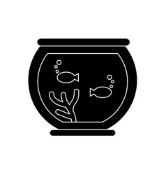 fish in bowl vector image