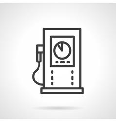 Gas refueling black line design icon vector