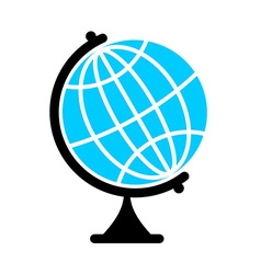 Globe flat icon earth ball character planet earth vector