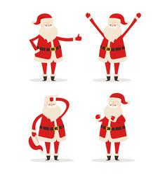 happy smiling santa claus vector image vector image