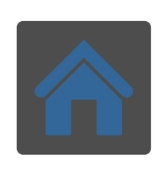 Home flat cobalt and gray colors rounded button vector image