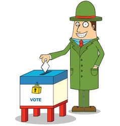 Man voting vector