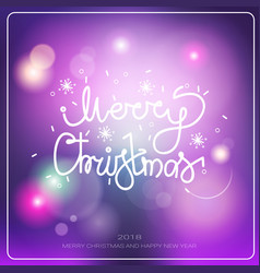 merry christmas and happy new year banner winter vector image