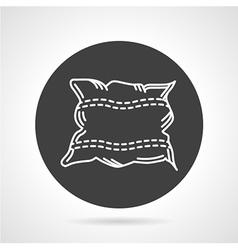 Pillow black round icon vector