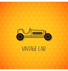 Retro sport racing car vintage outline style vector