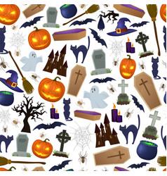 seamless pattern of halloween vector image
