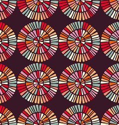 Seamless pattern with colorful circle shapes vector image