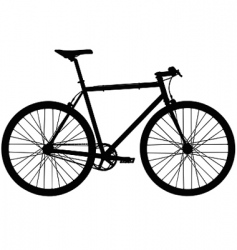single speed bicycle vector image