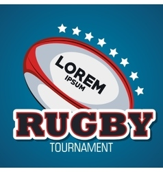 tournament rugby goal star with blue bakcground vector image